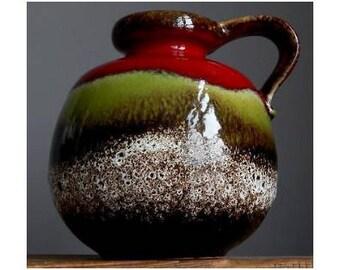 large vintage 70u0027s scheurich keramik bubble jug vase from west german - Bubble Jug