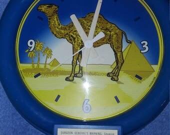 Vintage Camel Cigarette Clock