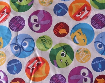 """14"""" x  42"""" inside out emotions fabric"""
