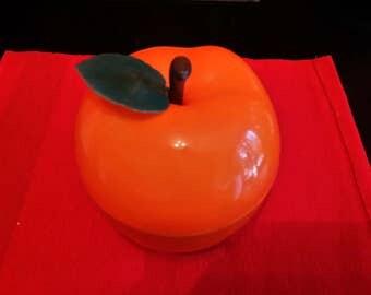 Old VINTAGE Orange ice cube tray