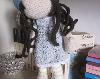 FLEUR,  Crocheted Doll, Amigurumi, Handmade Doll,