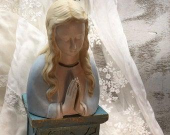 Madonna Figurine, Virgin Mary, Vintage, 1960s, Madonna Planter, Religious, Madonna Statue, Religious Statue, Vintage Madonna, Religious