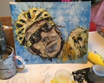 Sir Bradley Wiggins painting ...
