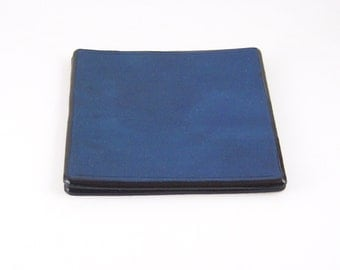 Colored Square leather coaster