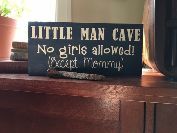 Little Man Cave Signs : Little man cave boy sign lil boys wall signs