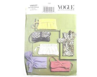 Vogue sewing pattern #V8527 for 5 styles of women's clutch bag purse handbag shoulderbag