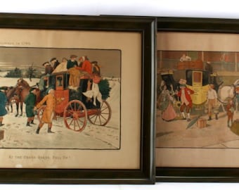 FREE SHIPPING! Victor Venner Antique Lithographs