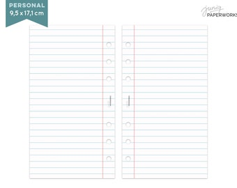 Notepaper Filofax - College - 25 Sheets - Personal