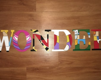 Alice in Wonderland Hand Painted Letters