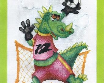 Counted Cross Stitch Kit Dragon goalkeeper
