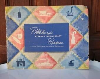 Pillsbury's Diamond Anniversary Recipes, Pillsbury Flour Recipe Booklet, Dessert Recipes, Bread Recipes, 1944