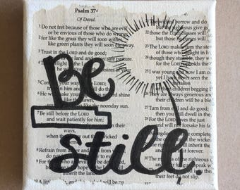 BE STILL and KNOW Bible word art