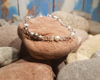 Fresh Water Pearl & Crystal Bracelet