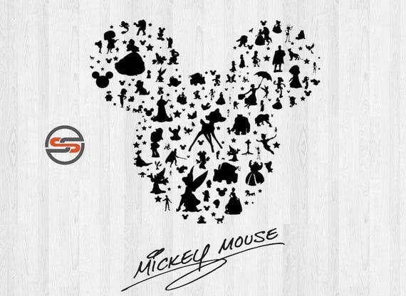 Mickey Mouse Ears SVG, Disney Castle svg, Magic Kingdom, Cinderella, Disney Silhouette Clipar - amazing world of handmade gifts