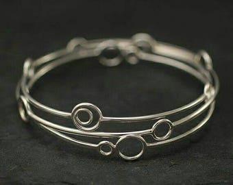 3 x Sterling silver bracelets