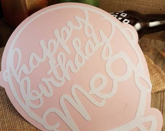 personalized birthday balloon, birthday photo booth props, birthday decorations for her, birthday decor for him, birthday party decorations