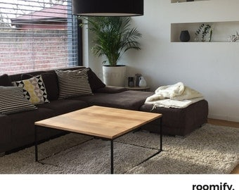 roomify coffee table DOMI black - loft - custom-made L80 x B80 x H50cm