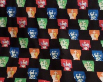 Beatles Fabric, Faces of John, Paul, George and Ringo, Andy Warhol Style/ Half Yard