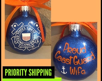 Coast Guard ornament,  Coastie, Coast Guard, coast guard ornament