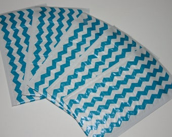 50 4x8 Teal Chevron Poly Bubble Mailers Size #000 Self Sealing Padded Shipping Envelopes Spring Easter
