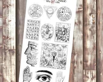 The Alchemist black&white planner stickers