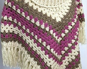 Poncho. Crochet roll neck...