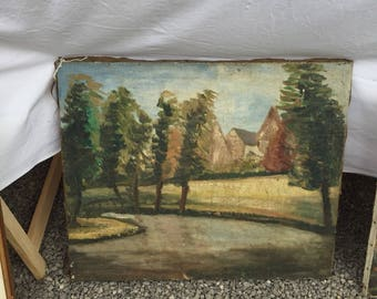 French county oil painting