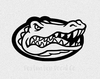 Gators car decal etsy for Florida gator coloring pages
