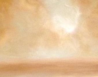 Semi Abstract Seascape II: Beach Painting (Signed, LTD Print)