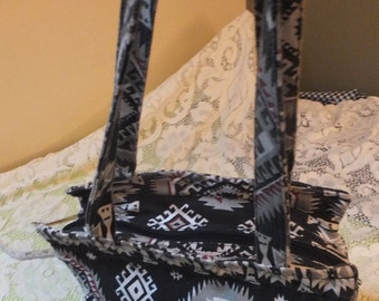 Native American Canvas Fabric Handbag