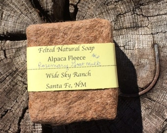 Milk and Honey Alpaca Felted Large Handmade  Soap