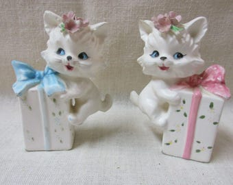Vintage Lefton Kitten Salt and Pepper Shakers