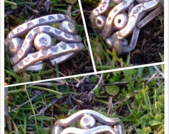 rings made handmade silver solid of law with design tribal.