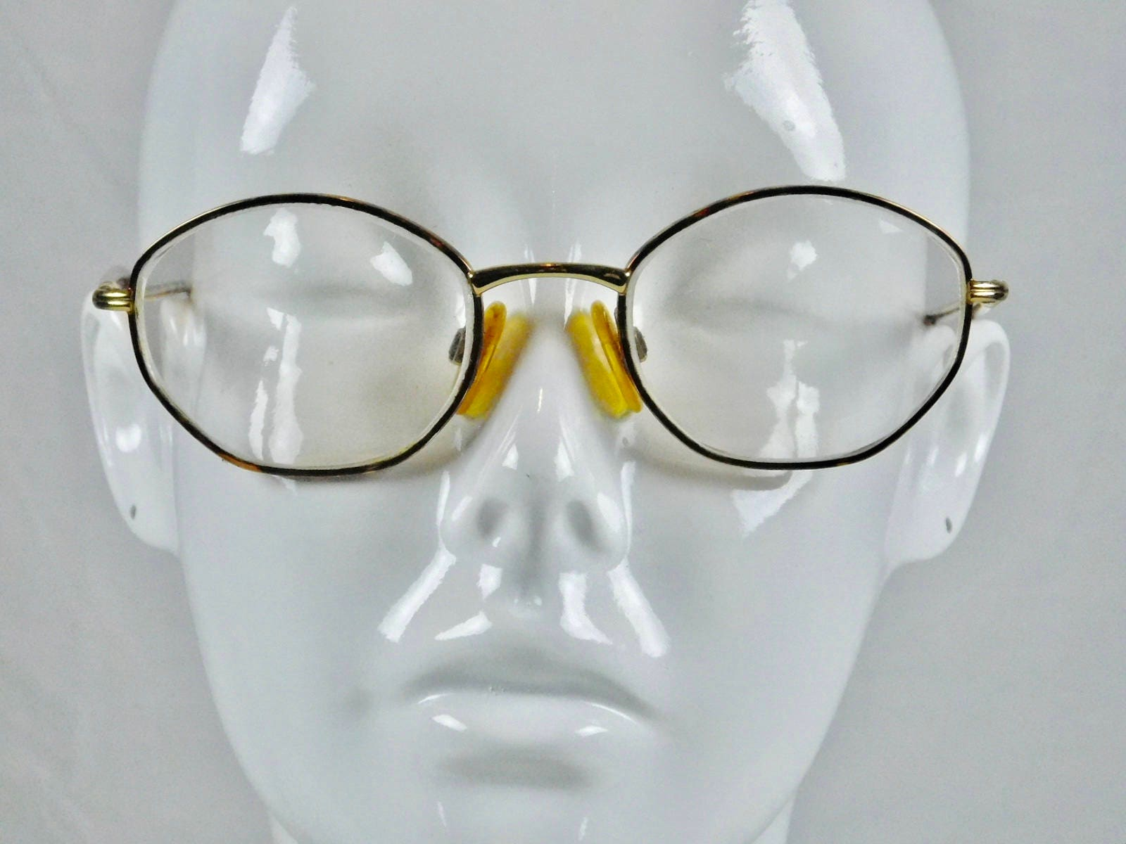 luxottica italy gold electroplated prescription eyeglasses indie