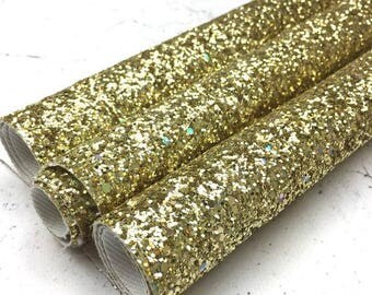 Glitter Canvas Sheet - Fools Gold - Chunky Glitter