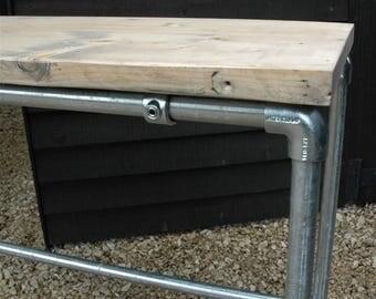 Modern Industrial Rustic Workbench