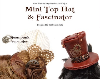 Mini Top Hat & Fascinator for 18 inch dolls