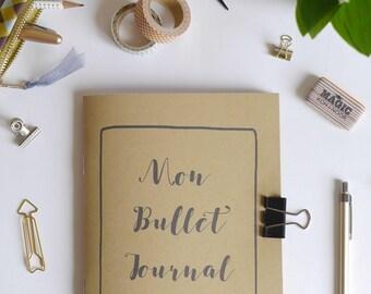 bullet journal notebook, bujo, kraft notebook, a5 notebook, journal diary, a5 planner, a5 insert, organizer, cahier,  42 printed sheets