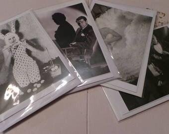 Vintage Postcard Greetings Cards with Envelopes, Blank, Pack of 4
