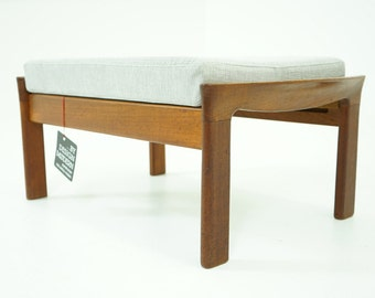 306-222 SALE! Danish Mid Century Modern Teak Footstool Stool Ottoman
