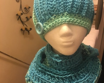 Ribbed Beanie and Infinity Scarf