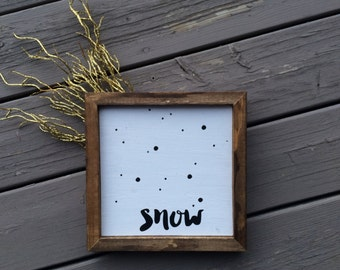 Winter sign // Snow Sign // Snow decor // winter decor // neutral decor