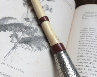 Magic wand, Magic wand handmade, french old reclaimed wood and silver share for wicca, Wiccan, witchcraft, witch, wizard, warlock.