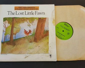 Vintage Tiny Town Classic Indian Legend The Lost Little Fawn Vinyl Record