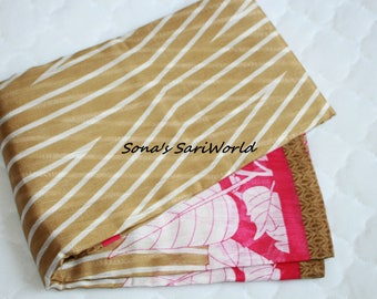 Cream and Pink Fancy Saree - A1026
