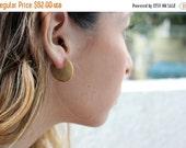 NEW YEAR SALE- gold disc earrings, circle earrings, everyday earrings,geometric earring, minimalistic earrings,disc stud earrings