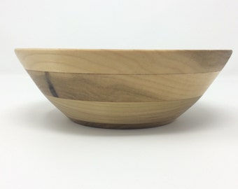Food Safe Segmented Poplar Bowl