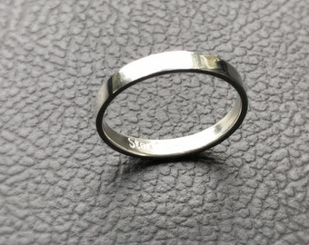 Silver Stacker Ring Band Argentium Sterling