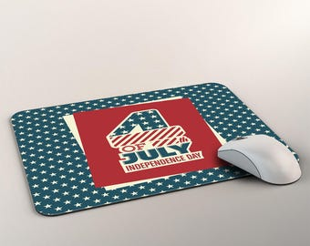 Retro Vintage Stars And Stripes Patriotic Design Mousepads Independence Day Mouse-pad USA Flag Patriotic Mouse Mat Memorial Day 4th Of July