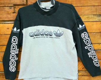 Rare Vintage Adidas Big Logo Spell Out Sweatshirt, Size L, Adidas Sweater, Street wear, Hip Hop, Skater
